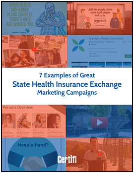 7 Examples of Great State Health Insurance Exchange Marketing Campaigns eBook Cover